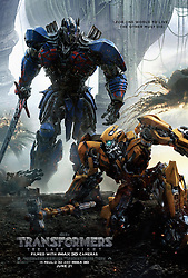 RELEASE DATE: June 23, 2017. TITLE: Transformers: The Last Knight. STUDIO: Paramount Pictures. DIRECTOR: Michael Bay. PLOT: Optimus Prime finding his home planet, Cybertron, now a dead planet, which he comes to find he was responsible for killing. He finds a way to bring the planet back to life, but in order to do so he needs to find an artifact, and that artifact is on Earth. STARRING: Poster art. (Credit Image: ? Paramount Pictures/Entertainment Pictures/ZUMAPRESS.com)