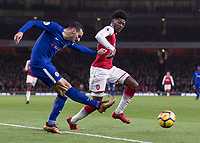 Football - 2017 / 2018 Premier League - Arsenal vs. Chelsea<br /> <br /> Davide Zappacosta (Chelsea FC) provides the cross that led to Chelsea's second goal at The Emirates.<br /> <br /> COLORSPORT/DANIEL BEARHAM