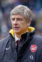 Photo: Glyn Thomas.<br />Birmingham City v Arsenal. The Barclays Premiership. 04/02/2006.<br />Arsenal's manager Arsene Wenger.