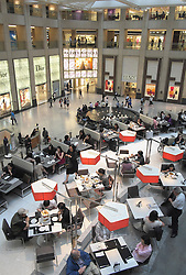 Interior of upmarket Landmark Centre  shopping mall in Hong Kong