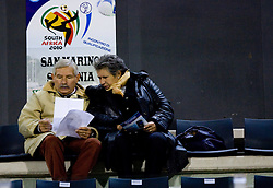 Spectators at the last 2010 FIFA World Cup South Africa Qualifying match in Group 3 between San Marino and Slovenia, on October 14, 2009, in Olimpico Stadium, Serravalle, San Marino. Slovenia won 3:0. (Photo by Vid Ponikvar / Sportida)