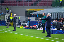 November 6, 2019, Milano, Italy: gian piero gasperini coach (atalanta bc)during Tournament round, group C, Atalanta vs Manchester City, Soccer Champions League Men Championship in Milano, Italy, November 06 2019 - LPS/Fabrizio Carabelli (Credit Image: © Fabrizio Carabelli/LPS via ZUMA Wire)