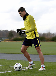 Tottenham Hotspur's Erik Lamela during the training session at Tottenham Hotspur Football Club Training Ground, London.