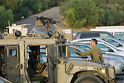 Israel, Rosh Hanikra, An Israeli army patrol vehicle on the Lebanese border