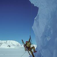 ANTARCTICA, Ski mountaineer,Mike Farney climbs Mt.Berry, Danco Coast Antarctic Peninsula (MR)