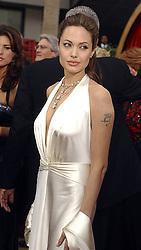 Feb 29, 2004; Hollywood, CA, USA; OSCARS 2004: Actress ANGELINA JOLIE arriving at the 76th Annual Academy Awards held at the Kodak Theater..  (Credit Image: Daily Breeze/ZUMAPRESS.com)