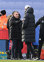 Football - 2020 / 2021 Premier League - Leicester City vs Liverpool - King Power Stadium<br /> <br /> Leicester City manager Brendan Rodgers with Liverpool manager Jurgen Klopp at the final whistle .<br /> <br /> COLORSPORT/ASHLEY WESTERN