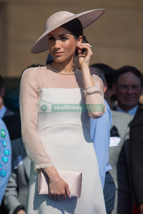 The Duchess of Sussex during a garden party at Buckingham Palace in London.