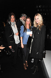 Left to right, AMANDA SHEPPARD, AMANDA CROSSLEY and POPPY DELEVINGHE  at the ISSA show as part of London Fashion Week 2010 held at Somerset House, The Strand, London on 23rd February 2010.