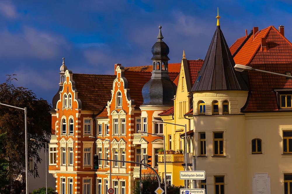 Ornate buildings, Schwerin, Mecklenburg-West Pomerania, Germany
