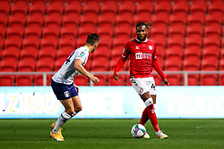 Kasey Palmer of Bristol City is challenged by Frederic Guilbert of Aston Villa - Rogan/JMP - 24/09/2020 - Ashton Gate Stadium - Bristol, England - Bristol City v Aston Villa - Carabao Cup Third Round.