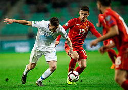 Benjamin Verbič of Slovenia vs Enis Bardi of Macedonia during football match between National teams of Slovenia and North Macedonia in Group G of UEFA Euro 2020 qualifications, on March 24, 2019 in SRC Stozice, Ljubljana, Slovenia. Photo by Vid Ponikvar / Sportida