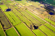 Nederland, Friesland, Gemeente Achtkarspelen, 28-02-2016; het landschap van de  Friese Wouden (Fryske Walden) met Pingoruines. Gelegen in de driehoek Twijzel, Zwaagwesteinde en Buitenpost.<br /> Landscape Frisian Woods (Fryske Walden) with Pingo ruines.<br />  <br /> luchtfoto (toeslag op standard tarieven);<br /> aerial photo (additional fee required);<br /> copyright foto/photo Siebe Swart