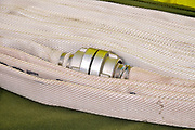 folded Fire hoses as Fire fighters equipment