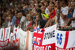 England supporters during the EURO 2016 Qualifier Group E match between Slovenia and England at SRC Stozice on June 14, 2015 in Ljubljana, Slovenia. Photo by Grega Valancic