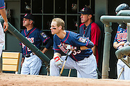 Justin Morneau #33 of the Minnesota Twins looks on during a game against the Chicago White Sox on September 16, 2012 at Target Field in Minneapolis, Minnesota.  The White Sox defeated the Twins 9 to 2.  Photo: Ben Krause