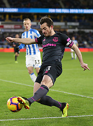 """Everton's Leighton Baines during the Premier League match at the John Smith's Stadium, Huddersfield. PRESS ASSOCIATION Photo. Picture date: Tuesday January 29, 2019. See PA story SOCCER Huddersfield. Photo credit should read: Nigel French/PA Wire. RESTRICTIONS: EDITORIAL USE ONLY No use with unauthorised audio, video, data, fixture lists, club/league logos or """"live"""" services. Online in-match use limited to 120 images, no video emulation. No use in betting, games or single club/league/player publications"""