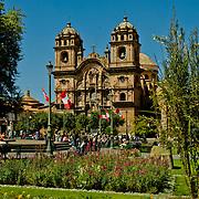 Plaza de Armas, the center of Cuzco, Peru.