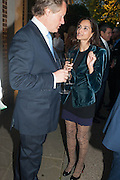 GUY MORRISON; FARZANA BADUEL, The Cartier Chelsea Flower show dinner. Hurlingham club, London. 20 May 2013.