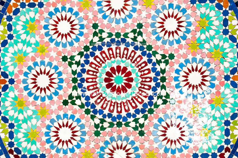 Decorative tiles on Nuzha mosque, Jaffa, Israel