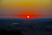 Dreamy Mediterranean Sun Set Photographed in Israel in May