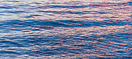Abstract textural water; mixing shades of pink and blue as the calm ocean reflects a colourful sunset in Vancouver, British Columbia