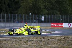 August 31, 2018 - Portland, Oregon, United Stated - SIMON PAGENAUD (22) of France takes to the track to practice for the Portland International Raceway at Portland International Raceway in Portland, Oregon. (Credit Image: © Justin R. Noe Asp Inc/ASP via ZUMA Wire)
