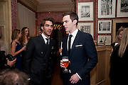 Jon Kortajarena; Nicholas Hoult, Graydon Carter hosts a diner for Tom Ford to celebrate the London premiere of ' A Single Man' Harry's Bar. South Audley St. London. 1 February 2010
