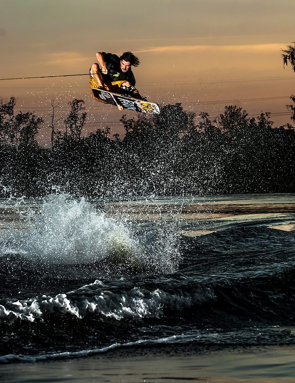 Dieter Humpsch shot for the cover of Alliance Wakeboard Magazine in Windermere, Florida.