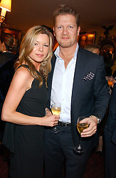 MR & MRS SOREN THOLSTRUP at a dinner hosted by Stratis & Maria Hatzistefanis at Annabel's, Berkeley Square, London on 24th March 2006 following the christening of their son earlier in the day.<br /><br />NON EXCLUSIVE - WORLD RIGHTS