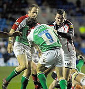 Reading, GREAT BRITAIN, Mike CATT and Paul HODGON, during the third round Heineken Cup game, London Irish vs Ulster Rugby, at the Madejski Stadium, Reading ENGLAND, Sat 09.12.2006. [Photo Peter Spurrier/Intersport Images]