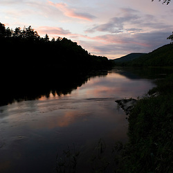 The Connecticut River in Plainfield, New Hampshire.  TNC's Silverweed Seep Preserve.