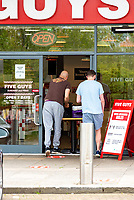 Five Guys at Xscape in Milton Keynes has <br /> re-open <br /> for both take away and Deliveroo home delivery orders photo by Mark Anton Smith