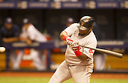 MLB: SEP 12 Red Sox at Rays.  Pablo Sandoval of the Red Sox, Hits an RBI.