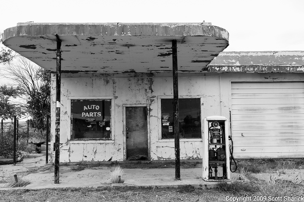 An old auto parts store and gas station along Route 66. Missoula Photographer