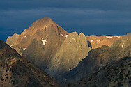 Morning light on Virginia Peak, seen from the Humboldt-Toiyabe National Forest, Mono County, Eastern Sierra, California