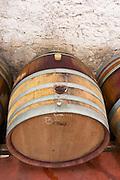 Domaine Mas Lumen in Gabian. Pezenas region. Languedoc. Barrel cellar. France. Europe.