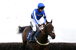Your Darling ridden by jockey Luca Morgan wins the Racing TV Novices' Handicap Chase at Huntingdon racecourse. Picture date: Tuesday October 12, 2021.