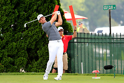 June 24, 2018 - Cromwell, CT, U.S. - CROMWELL, CT - JUNE 24: Paul Casey of England drives from the 9th tee during the Final Round of the Travelers Championship on June 24, 2018 at TPC River Highlands in Cromwell, Connecticut. (Photo by Fred Kfoury III/Icon Sportswire) (Credit Image: © Fred Kfoury Iii/Icon SMI via ZUMA Press)