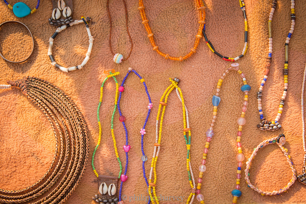 necklaces made by the Himba tribe, Kunene Region, Northern Namibia, Southern Africa