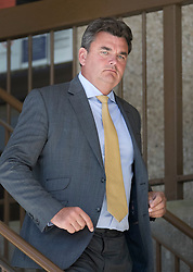 © Licensed to London News Pictures. 23/08/2016. London, UK. BHS buyer Dominic Chappell leaves Aldershot Magistrates court after receiving a 6 month driving ban and a fine.  Photo credit: Peter Macdiarmid/LNP