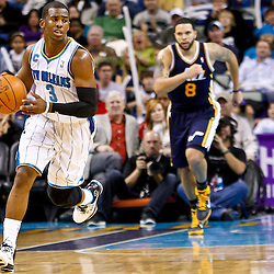 December 17, 2010; New Orleans, LA, USA; New Orleans Hornets point guard Chris Paul (3) controls the ball during the second half of a game against the Utah Jazz at the New Orleans Arena.  The Hornets defeated the Jazz 100-71. Mandatory Credit: Derick E. Hingle