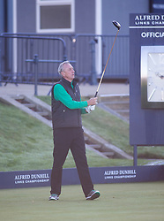Johan Cruyff. Alfred Dunhill Links Championship this morning at St Andrews.