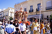 Street procession celebration of Feast of Corpus Christi in Ronda, Andalucia, Spain