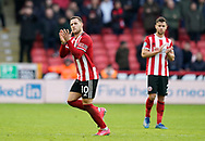 Billy Sharp of Sheffield Utd is substituted during the Premier League match at Bramall Lane, Sheffield. Picture date: 9th February 2020. Picture credit should read: Simon Bellis/Sportimage