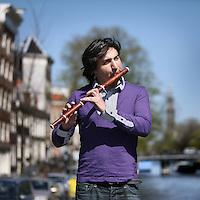 Nederland, Amsterdam , 20 april 2010..De in Australie geboren fluittist Ravind Sangha..Foto:Jean-Pierre Jans