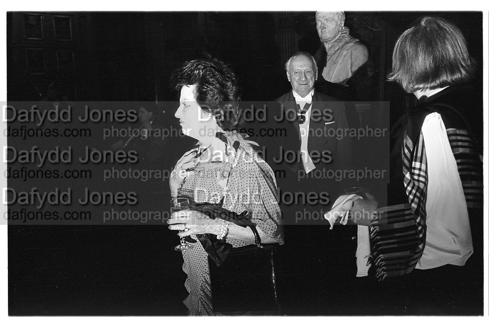 Lady Killearn. Wedding reception: Princess Katarina/Demad de Silva. Middle Temple, 28.01.88© Copyright Photograph by Dafydd Jones 66 Stockwell Park Rd. London SW9 0DA Tel 020 7733 0108 www.dafjones.com<br />