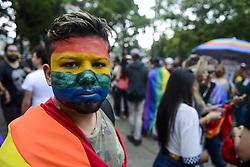 November 18, 2018 - Curitiba, Brazil - CURITIBA, PR - 18.11.2018: PARADA DA DIVERSIDADE LGBTI EM CURITIBA - Parade of LGBTI Diversity, in Curitiba, this Sunday (18) (Credit Image: © Henry Milleo/Fotoarena via ZUMA Press)