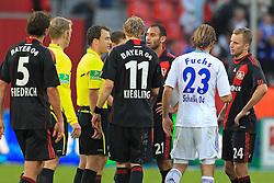 23.10.2011,  BayArena, Leverkusen, GER, 1.FBL, Bayer 04 Leverkusen vs Schalke 04, im Bild.Leverkusener sind sauer und schimpfen aufm Felix Zwayer (Schiedsrichter)..// during the 1.FBL, Bayer Leverkusen vs Schalke 04 on 2011/10/23, BayArena, Leverkusen, Germany. EXPA Pictures © 2011, PhotoCredit: EXPA/ nph/  Mueller       ****** out of GER / CRO  / BEL ******