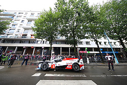 June 11, 2018 - Le Mans, FRANCE - 8 TOYOTA GAZOO RACING (JPN) TOYOTA TS050 SEBASTIEN BUEMI (CHE) KAZUKI NAKAJIMA (JPN) FERNANDO ALONSO  (Credit Image: © Panoramic via ZUMA Press)